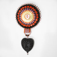 Orange & Black Seahorse Heart