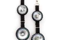 Black & White Classic Double Drop Earrings