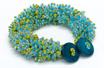 Blue & Green Embellished Bracelet