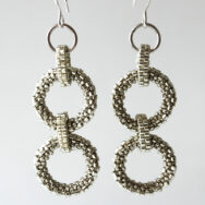 Silver Double Rings – Earrings