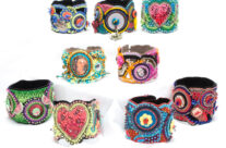 A Selection of Bead Embroidered Bracelets