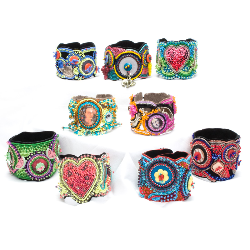 A Selection Of Bead Embroidered Bracelets   Norgard Designs