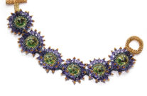 Blue-Violet and Soft Green Bracelet
